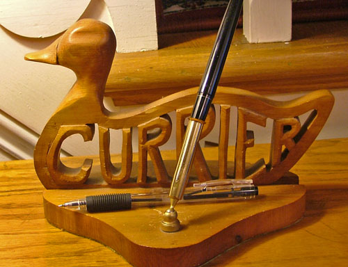 Desk pen set - carver unknown