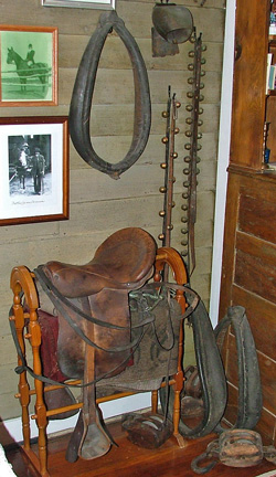 Original tack from the Havre de Grace Livery stable in operation in early 1900s.