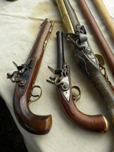 Flintlock Pistols like those used in 1812